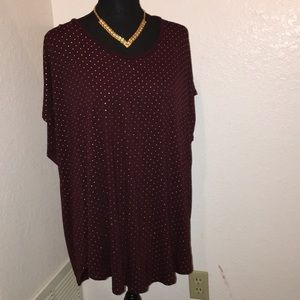 Burgundy and Gold Tunic